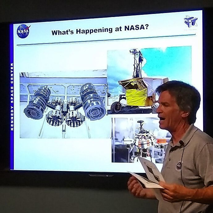 NASA's William Little giving an update on what they are working on at Kennedy Space Center… https://t.co/9M0cAnHwqP https://t.co/VfokctmmFT