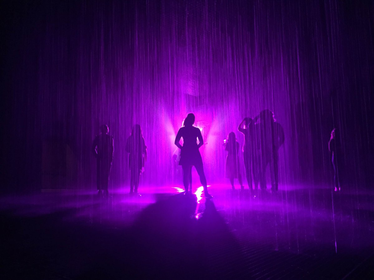 In memory of Prince @rAndomHQ artists decided to make #PurpleRain in #RainRoom @LACMA today: https://t.co/D5j16new6W https://t.co/40WGihwO4i