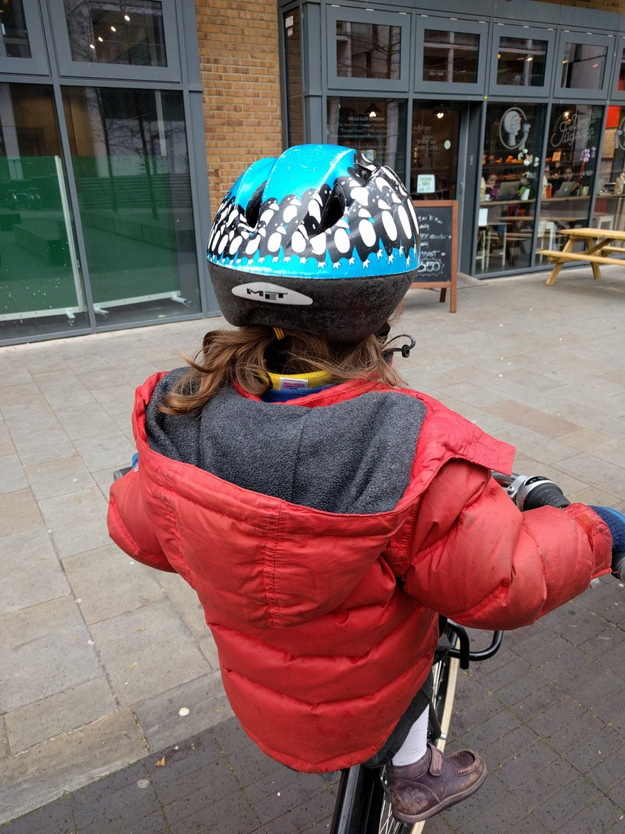 About to ride back from the library after school. Overtaken closely too many times by motorists. #schoolrunstories https://t.co/lALWAGrolo