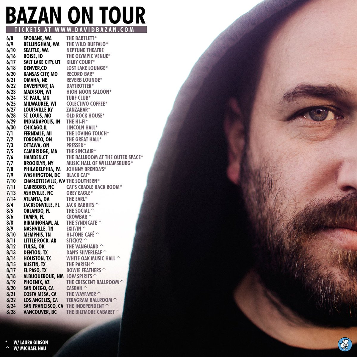 Get your tickets now to see @davidbazan on tour this summer with @lauragibsongirl and @naumichael! https://t.co/TOhxz1hvM8