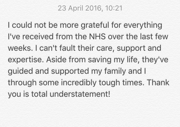Thank you so much @NHSEngland https://t.co/LxWMSjkmGu