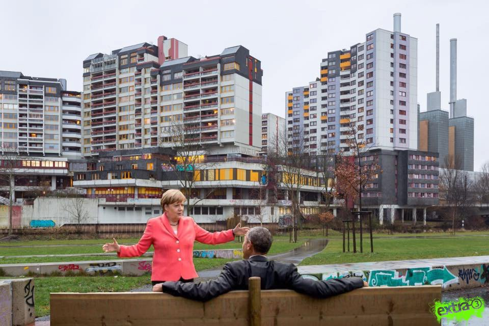 #Obama in Hannover: gleiches Land, andere Fototapete