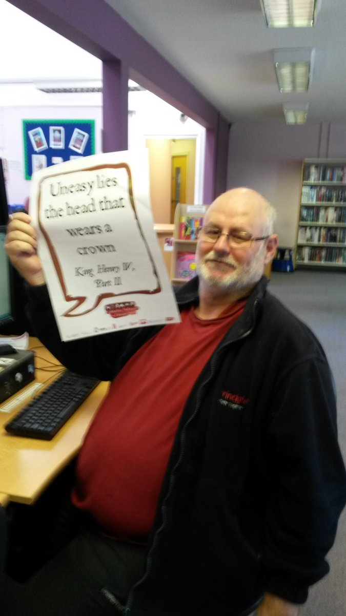 Share your Shakespeare selfie with us today @SalfordLibrary #shakespeare16 https://t.co/xykXqLxfpw