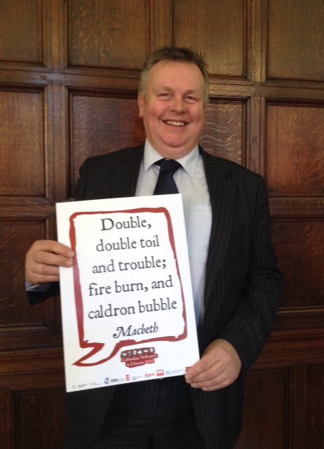 @MarkWinnington County Councillor & Cabinet Member @StaffordshireCC celebrates #Shakespeare16 @StaffsLibraries https://t.co/KCCMOQ9f1C
