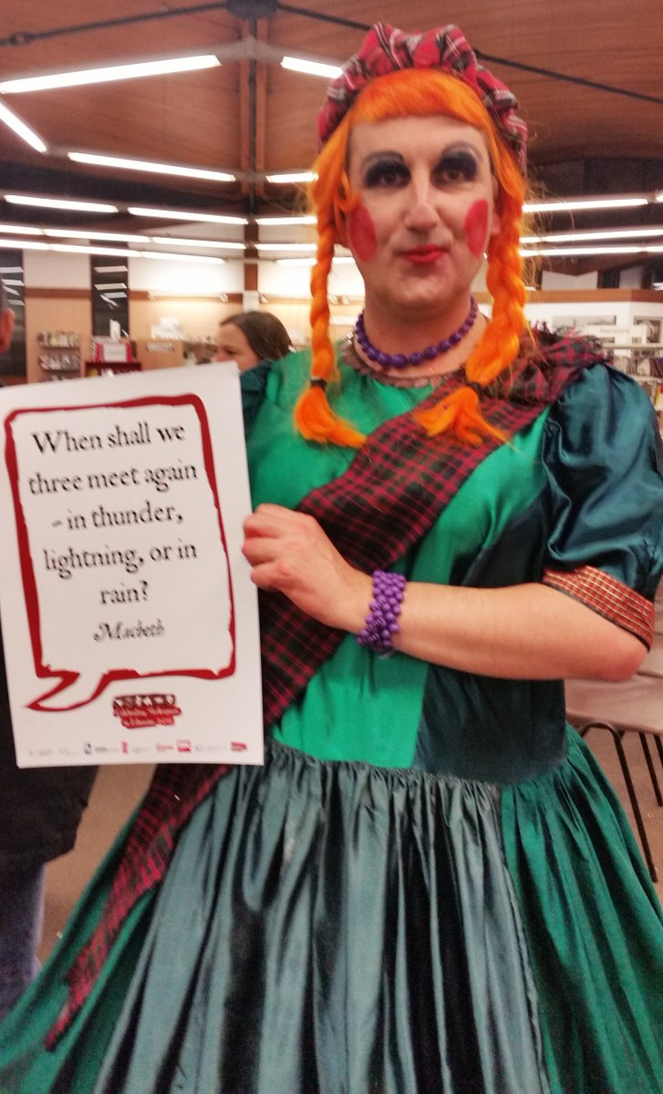 Lady Macbeth at #Morecambe with the witches quote #Shakespeare16 https://t.co/iVGPuhxqn7