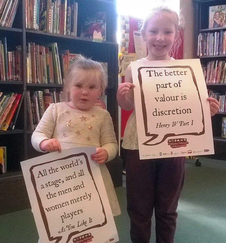 Lyla and Phoebe at #Burnley. #Shakespeare16 https://t.co/bmXPAdUpsX