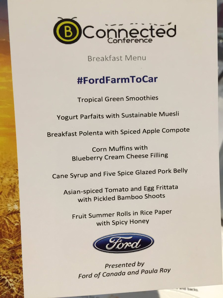 So neat how @paulajroy created a menu inspired by bio-material Ford is using in vehicle production #fordfarmtocar https://t.co/dPngIIIgb6