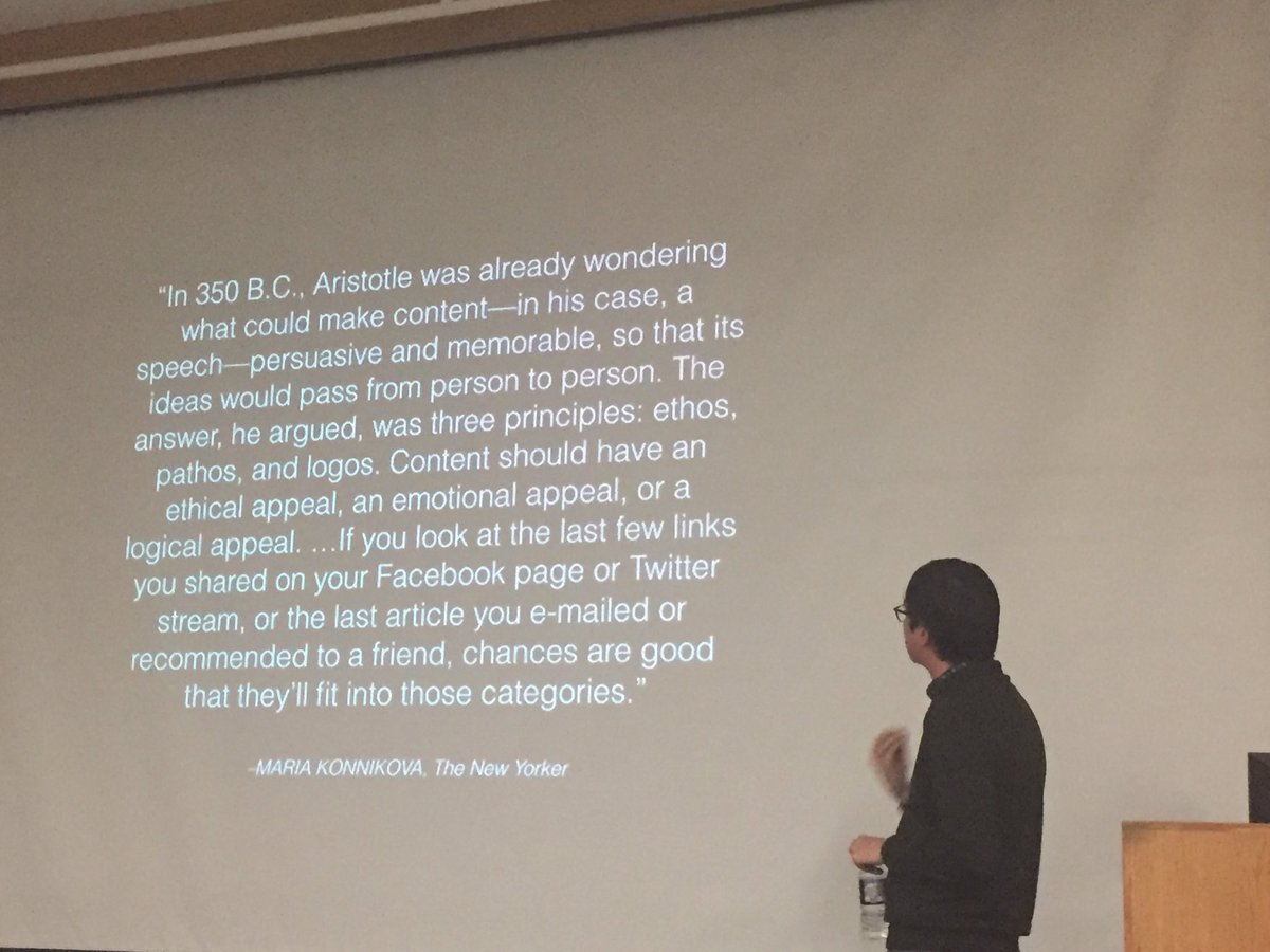 This quote is so true. Soaking in Facebook algorithm secrets with @rkellett #alaskapressclub #socialmedia https://t.co/GCq3DuYBm2