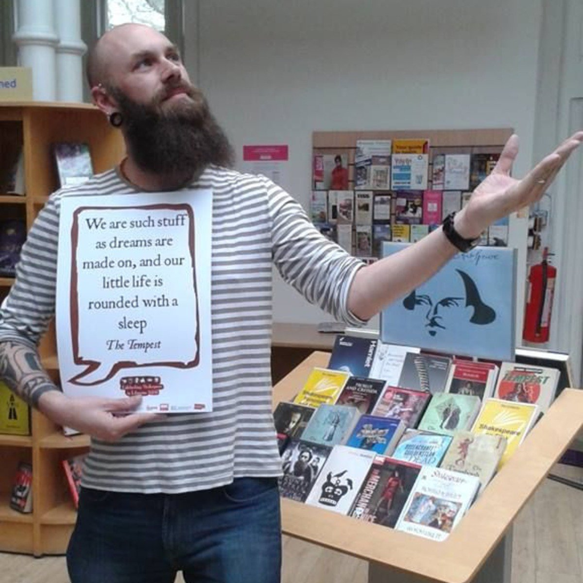 Quoting from 'The Tempest' we have Jonas our reference manager returning as part of #shakespeare16 https://t.co/5BTWX86zJU