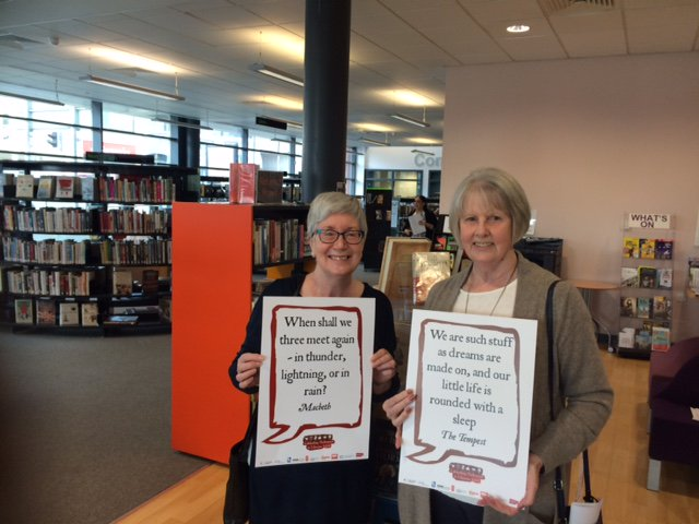 Walkden library customers joining in @SalfordLibrary #Shakespeare16 https://t.co/Q9weVv0JVg