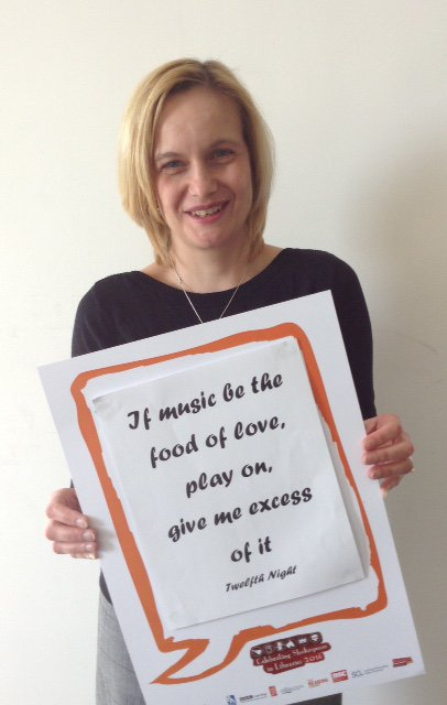 @JoannaTerry11 Head of Archives & Heritage @StaffordshireCC celebrates #Shakespeare16 @StaffsLibraries https://t.co/6sItGx18Xv