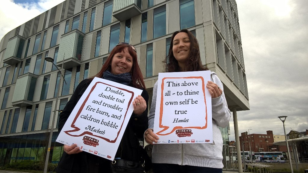Library staff after giving out lots of books for World book night with their #Shakespeare16 selfie https://t.co/PeE7bhVe6x
