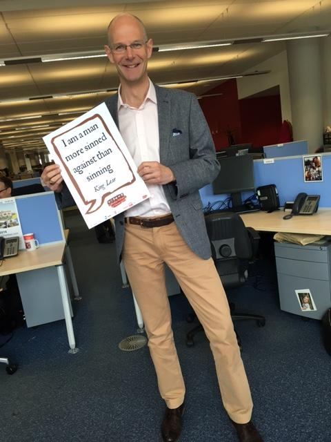 Hugh White, Director for Sport & Culture sharing his favourite #shakespeare quote #shakespeare16 #Nottingham https://t.co/hjPcFE1DeF