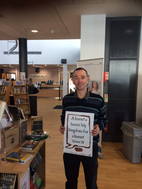 My kingdom for a horse!  @SalfordLibrary #shakespeare16 https://t.co/tg0LVvSAYg