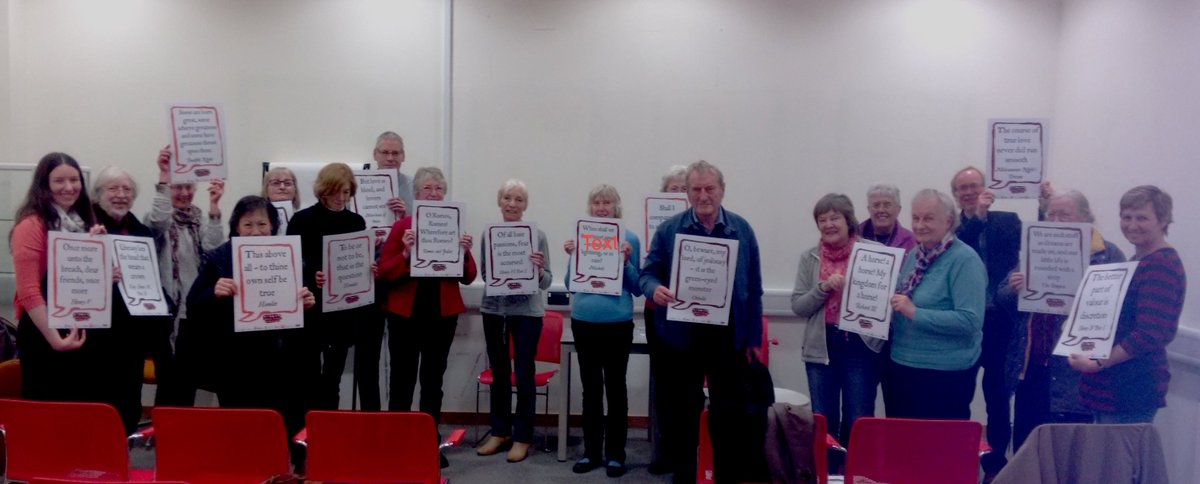 Group photo from the talk at KHLC today #shakespeare16 #kentlibraries https://t.co/3FmvEgbXfR
