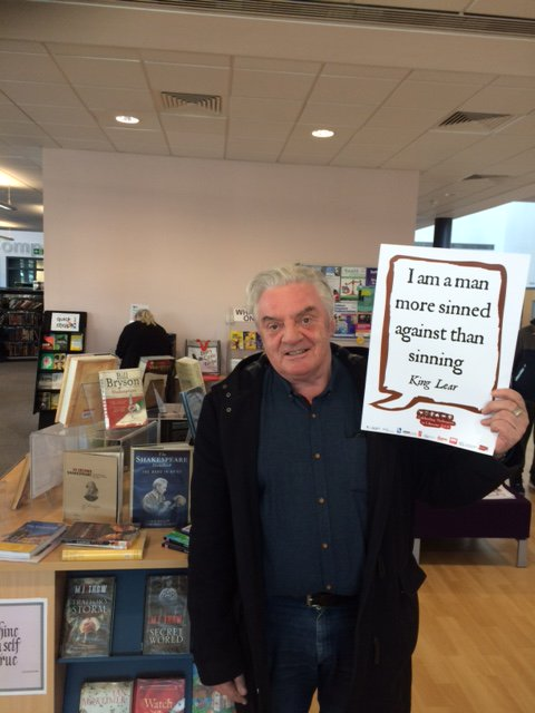King Lear, a man more sinned against.  @SalfordLibrary #shakespeare16 https://t.co/xpDsU9U8KS