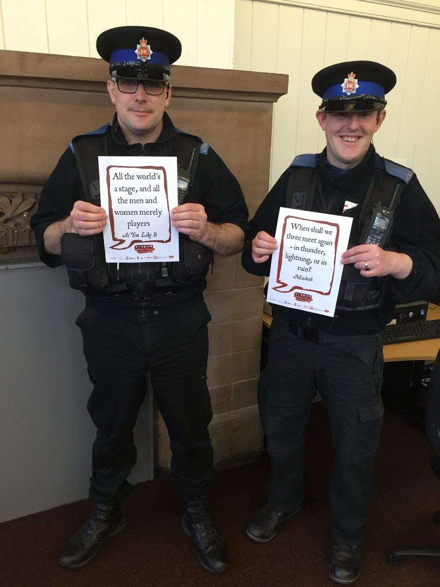 Great to see our local PCSOs joining in! @SalfordLibrary #shakespeare16 https://t.co/pL4lmxAS6r