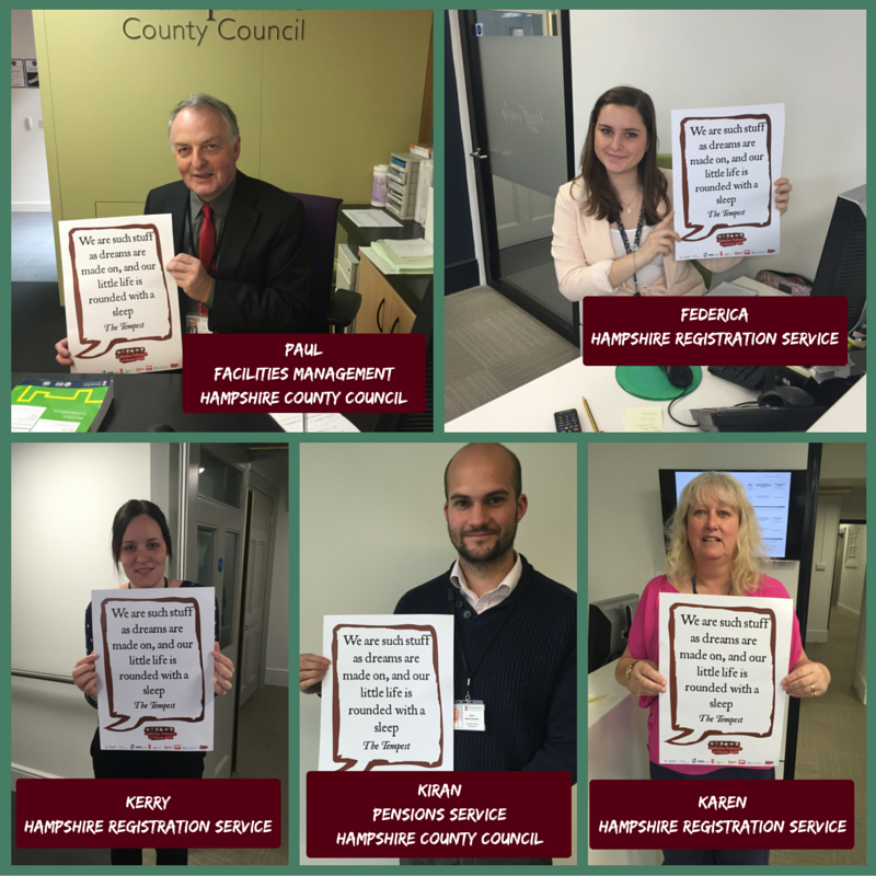 We've loved sharing our #Shakespeare16 selfies with you today! https://t.co/kF5IxNhitl