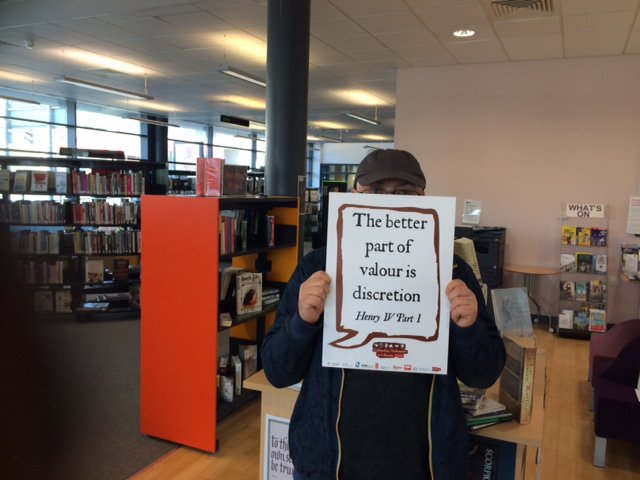Discretion indeed! @SalfordLibrary #shakespeare16 https://t.co/ZzjraadXdB
