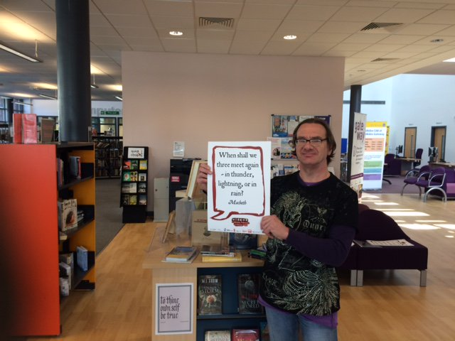Macbeth @SalfordLibrary #shakespeare16 https://t.co/S40IHbjEes