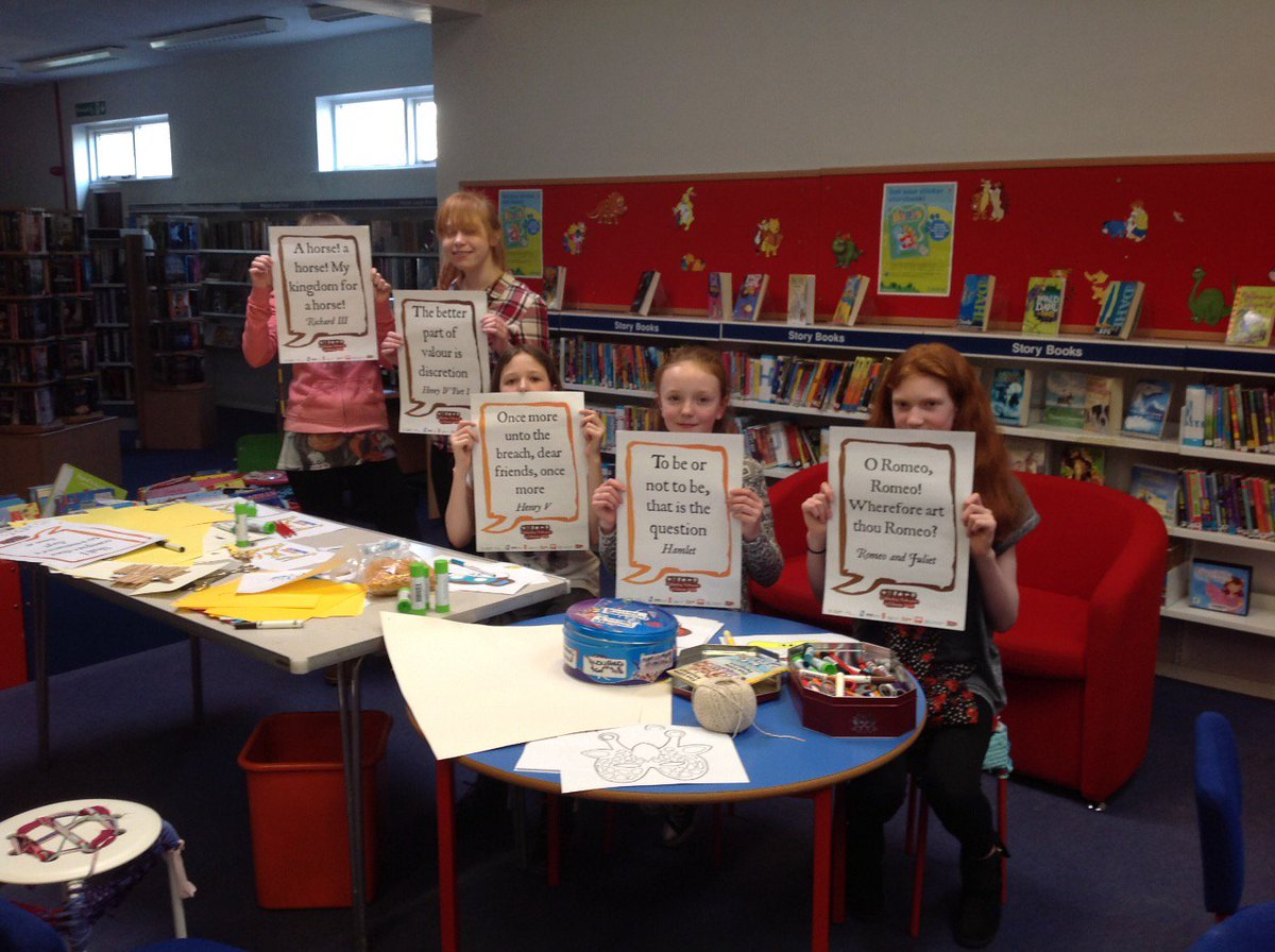 The @OurSayBirtley display their #Shakespeare400 quotes! #Shakespeare16 https://t.co/LL6mIELbY6