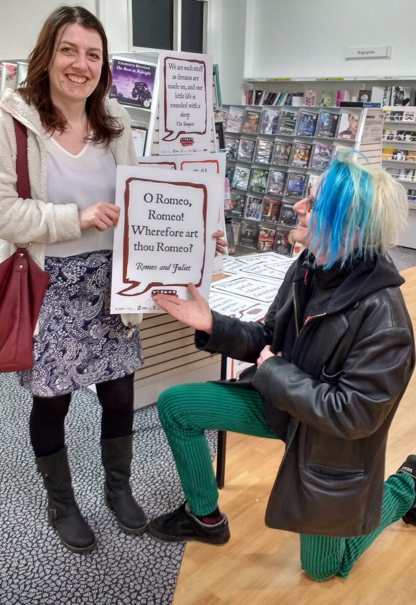 Lisa finds her Romeo at #Chorley #Shakespeare16 https://t.co/XRfC7WGGCt