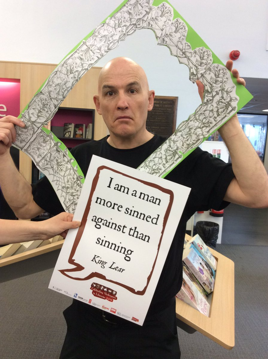 Look! It's #jovialjanitor John with his #Shakespeare400 quote Do we agree with him? #shakespeare16 https://t.co/yvHMzn6628