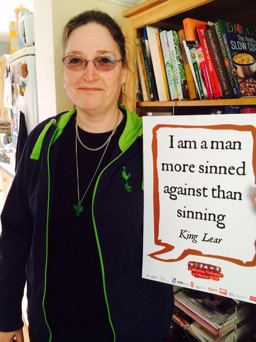 I am Amanda more sinned against than sinning #shakespeare16 https://t.co/VcPKNnlwGo