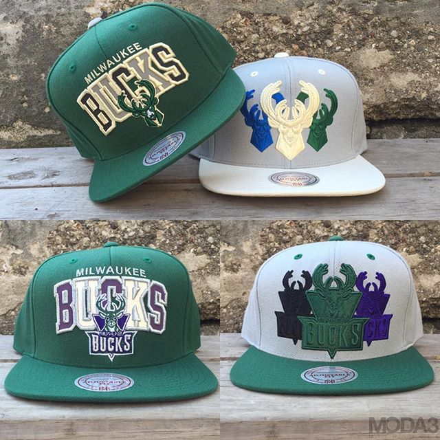 Fresh @Bucks snapbacks from @mitchell_ness just landed in the shop…Come through to scope 'em all! #fearthedeer #NBA https://t.co/dKL5lzMFiA