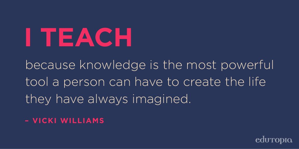 Edutopia On Twitter Knowledge Is Power Quote Whyiteach Cool Knowledge Is Power Quote