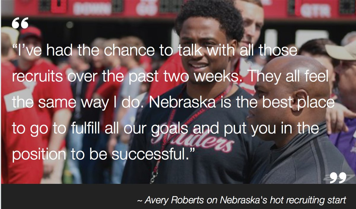 Avery Roberts - @AveryLB11 - knows why #Nebrska is hot on the recruiting trail: https://t.co/9EMOxmqEB2