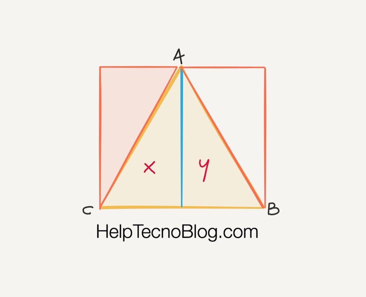 Come calcolare l'area di un triangolo isoscele