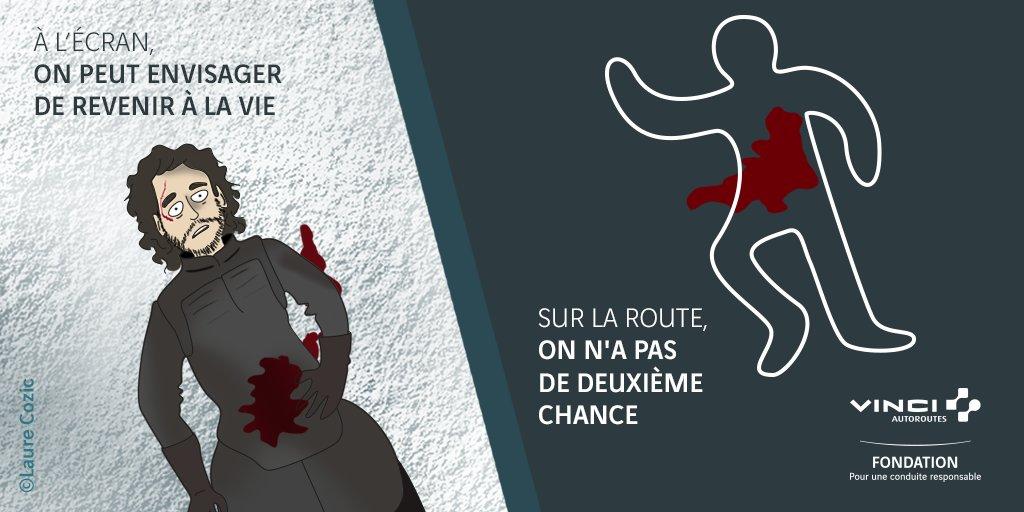 #NoSpoiler - Fiction vs. réalité #GoT #JonSnow #sécuritéroutière