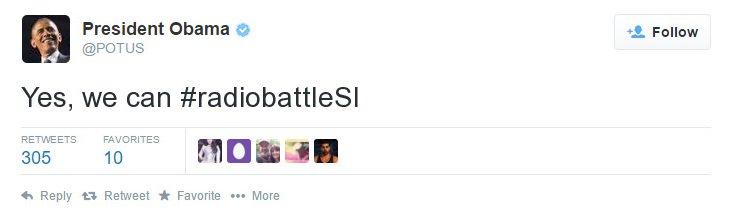 Glej, kdo tvita za #radiobattleSI! Yes, we can! https://t.co/Epeq2BGKvD