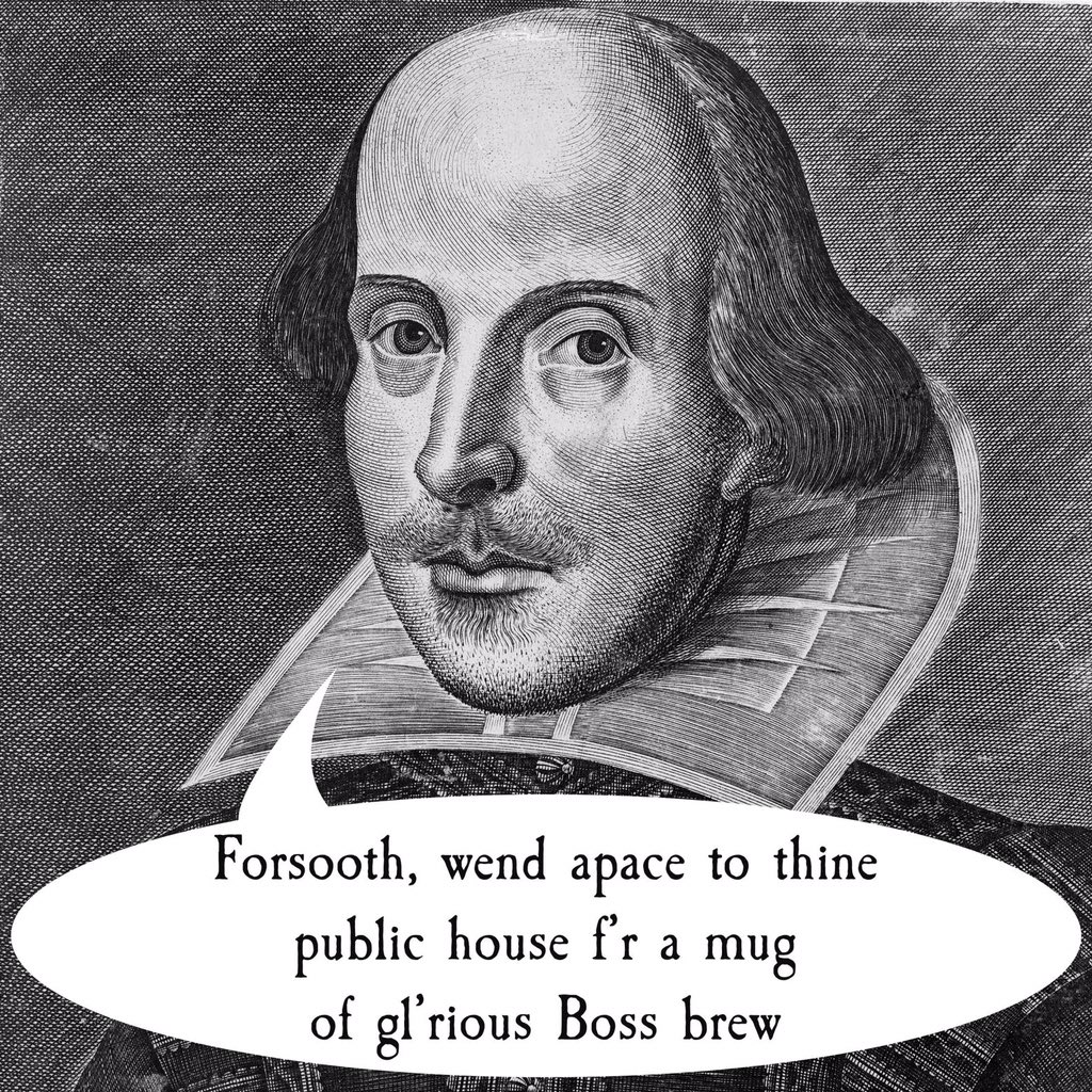 That Shakespeare spoke sense..If he were alive today, which Boss beer would he drink? #Shakespeare400 #Shakespeare16 https://t.co/H646ka2ZXf
