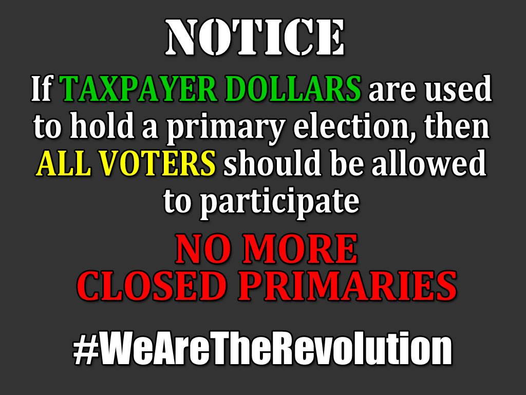 It seems odd to me that the state is using taxpayer dollars to hold primary elections. #feelthebern #Bernie https://t.co/T3tU2nx7i5