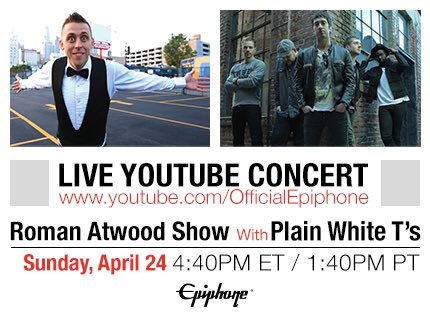 Who is ready for @RomanAtwood & @plainwhitets tonight LIVE on @YouTube?