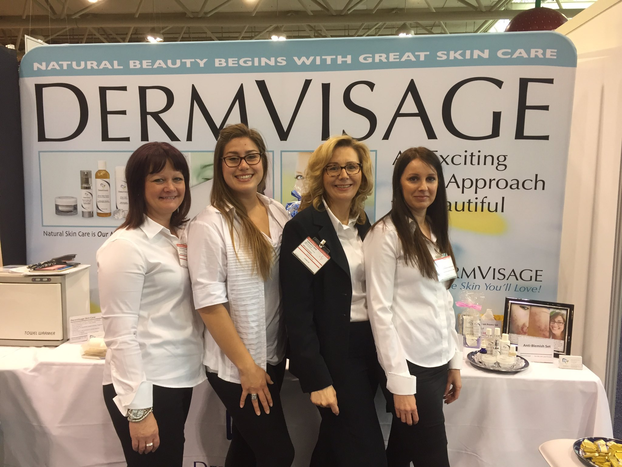 Ursula Eshragi and DermVisage Team at the Estheticians and Spa Show in Toronto, 2016