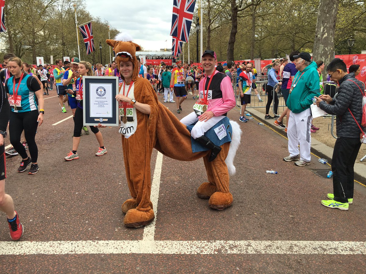 Guinness World Records 2021 Out Now On Twitter Dark Horse Surgeon Endoscope I Broke Fastest Marathon In A 2 Person Costume Record In 04 21 22 Londonmarathon