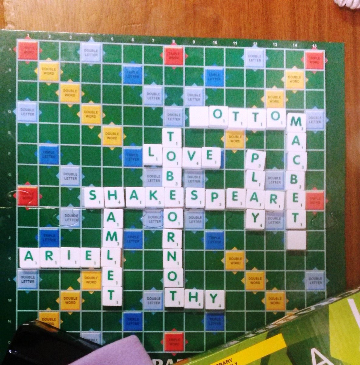 The Saturday Scrabble Club at Great Baddow Library with their own tribute to the Bard! #Shakespeare16 https://t.co/rvSYa7ACfT