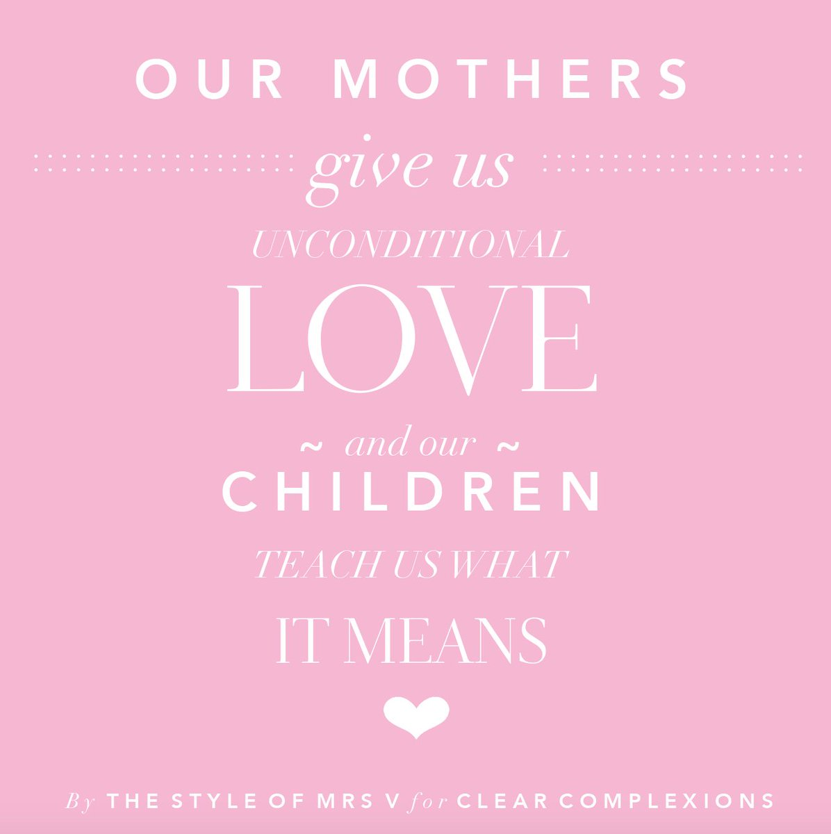 Suzie Hoitink On Twitter Our Mothers Give Us Unconditional Love And Our Children Teach Us What It Means Mothersday Quote Love