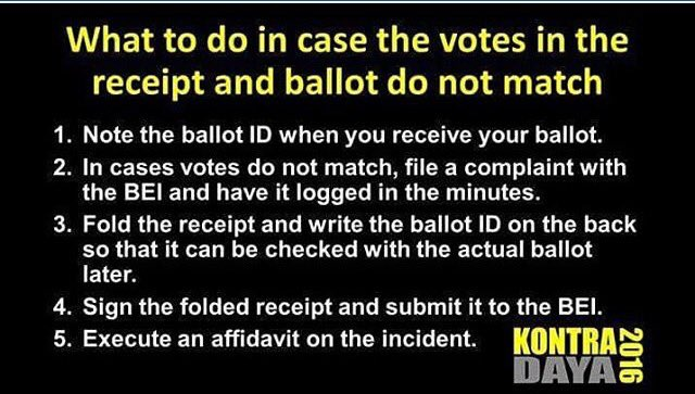 A friend posted that her receipt did not match some of her votes. In case that happens, here's what you need to do https://t.co/sAUtPJ2i78