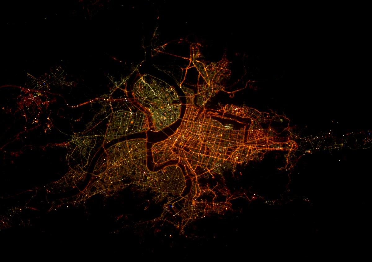 #GoodNight #Taipei #Taiwan from @Space_Station.  #CitiesFromSpace #Explore