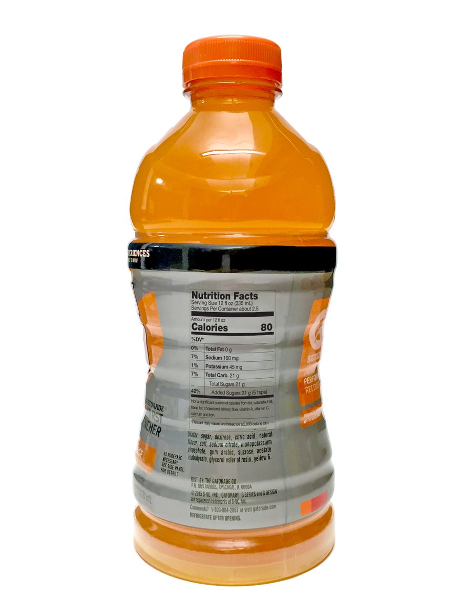 FDA's proposed Nutrition Facts Panel would inform people that this 12-oz Gatorade has 42% of their added sugar limit https://t.co/b64PHXYNUR