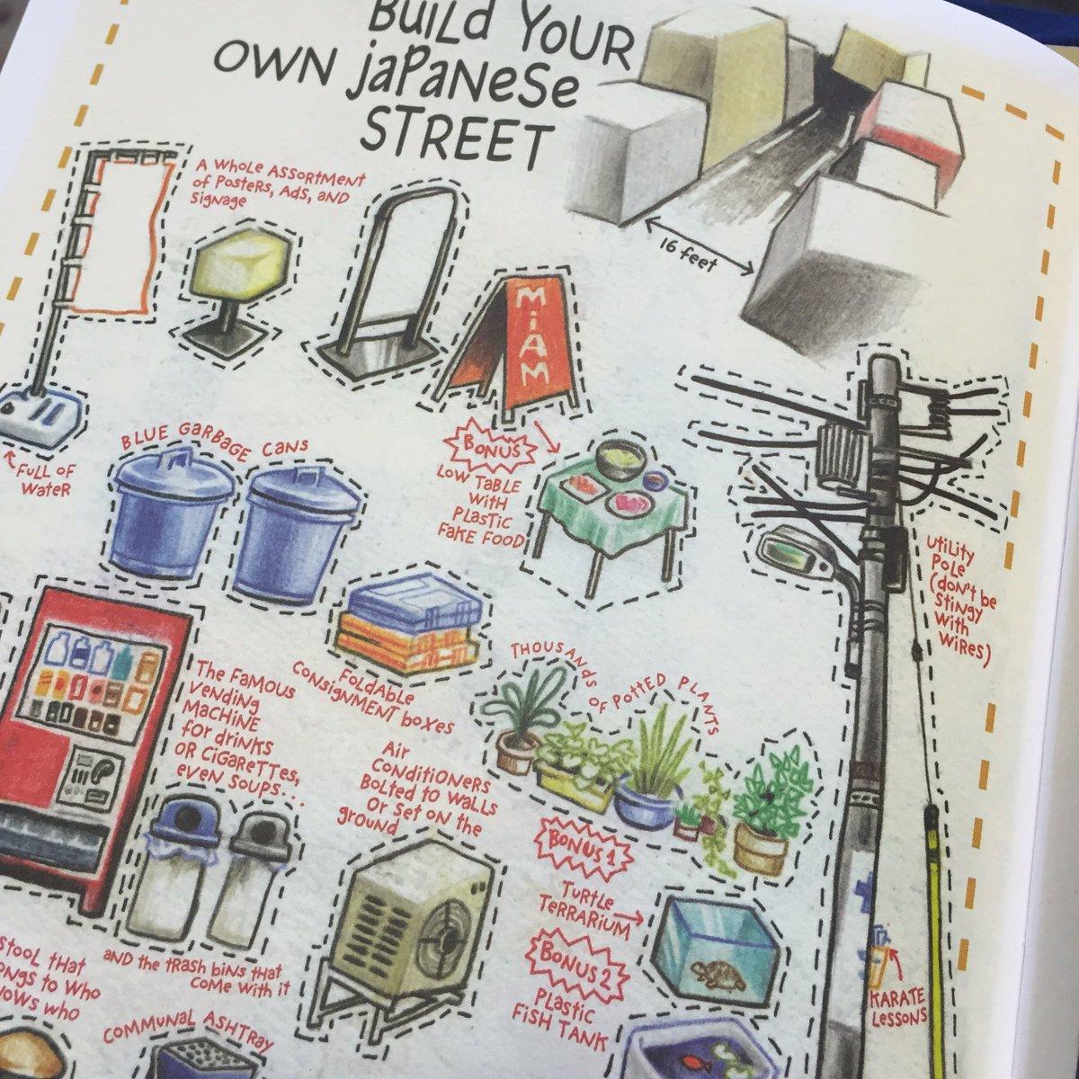 フランス人のイラストレーターが東京滞在中に街角をスケッチしたこの本、わざわざ絵にしないような細かなものまでちょっとシニカルな視点で描きとめててとても好き。外国人目線の日本の街角図鑑。
