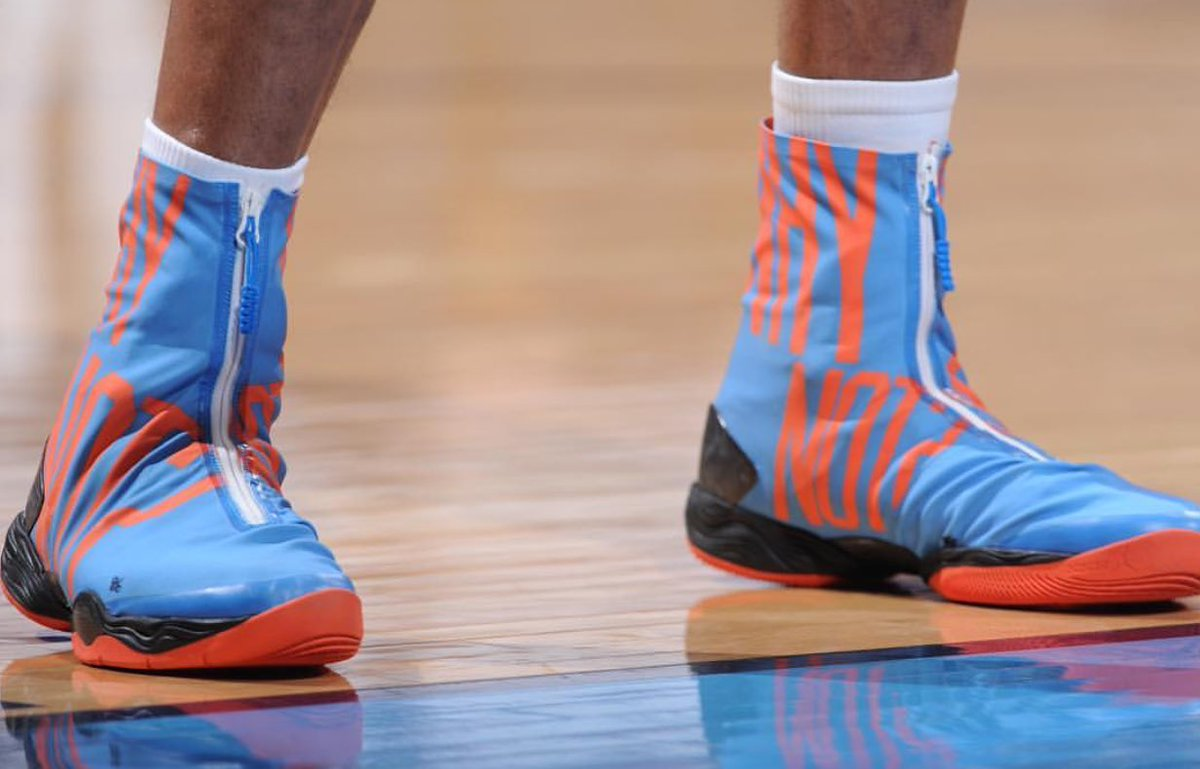 "Close-up of russell westbrook's ""why not?"" shoes (via @nba ..."