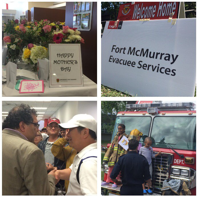 Thanks to those who volunteered to help welcome nearly 1200 Fort McMurray evacuees to campus since Fri. afternoon. https://t.co/cULZV0qsuR