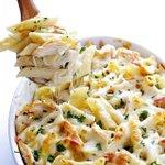 Image for the Tweet beginning: Cheesy Chicken Baked Ziti Alfredo