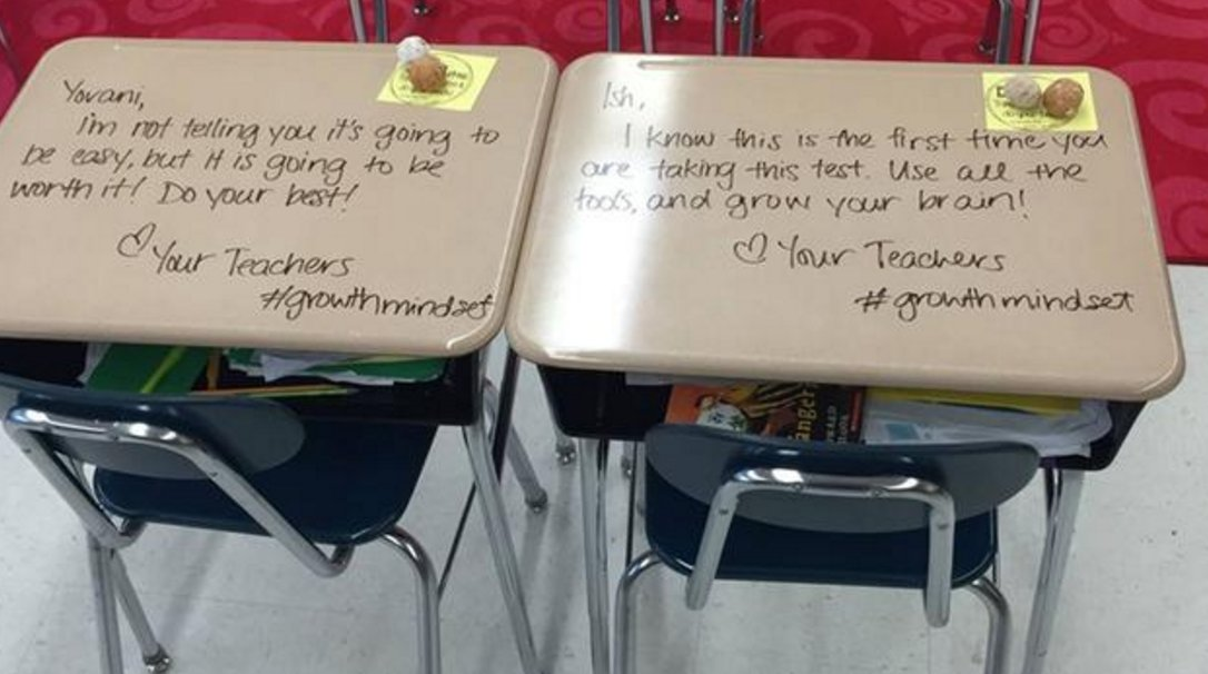 Teacher turns students' desks into letters of inspiration #catholicedchat https://t.co/hvTRLt0IEj https://t.co/x0SyWQfpJi