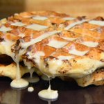 Image for the Tweet beginning: Cinnamon Roll Waffles